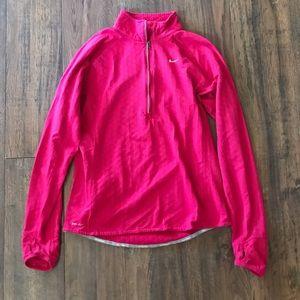 Nike Pink Fleece Running Jacket w/ Thumb Holes